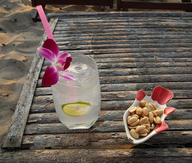 Gin tonic al estilo thai