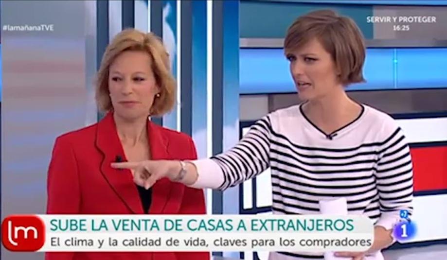 En 'Las Mañanas de TVE' hablando de ventas inmobiliarias