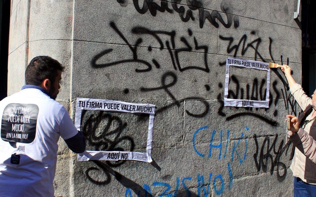 ¡Hartos de los graffitis de firmas o tagging!